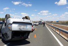 Accidente en la A-44 a la altura de Jaén. FOTO: Policía Local de Jaén
