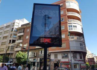Uno de los relojes termómetro de Jaén. FOTO: HoraJaén