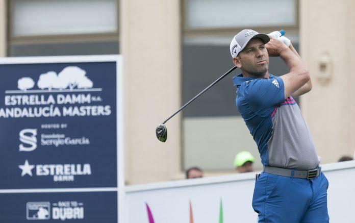 Sergio García, durante la primera vuelta del torneo (foto © Real Club Valderrama)