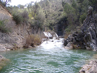 Zona de baño en la provincia de Jaén.
