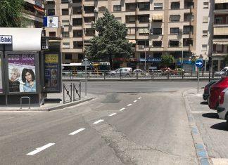 Calle Alfredo Kraus con cambio para los taxistas.