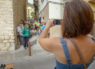 Imagen de la concentración para protestar contra el desahucio. FOTO: Peragón