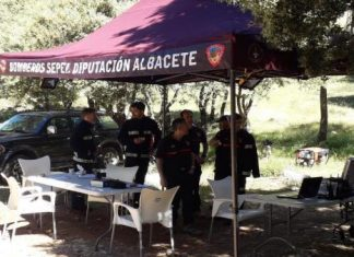 Servicio de bomberos de Albacete que participaron en la búsqueda. FOTO: SEPEI