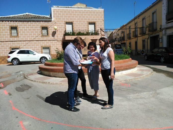 Visita obras plaza de Las Garrotas.