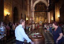 Funeral de Francisco Ontiveros en Baños de la Encina. VÍDEO: ANA LUNA
