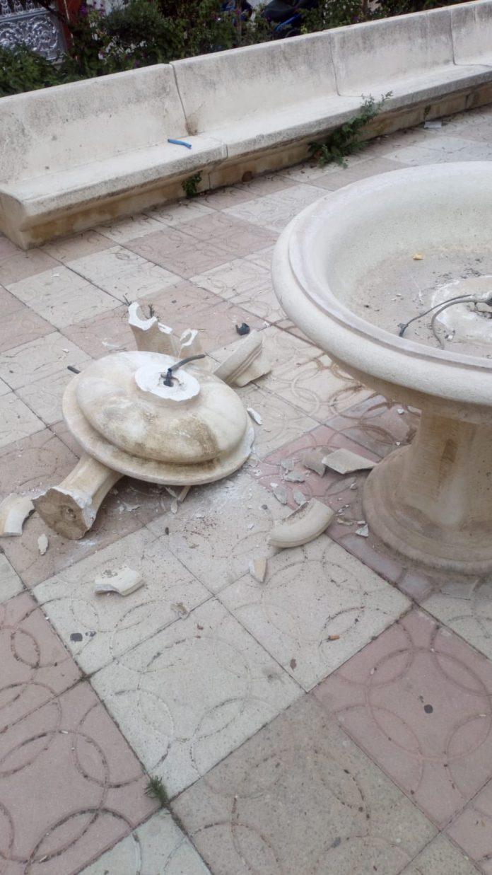 Actos vandalicos plaza San Bernardo.