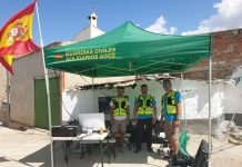 Miembros de la asociación guardias civiles solidarios.