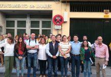 Paro por la España Vaciada en Linares.