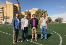 Visita al campo de fútbol del Polígono de los Olivares.