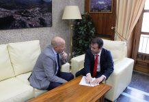 Reunión entre Julio Millán y Javier Imbroda.