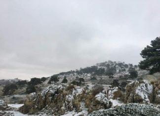 Primeras nieves de la temporada invernal en Jaén. FOTO: José Antonio Nieto