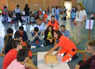 Reanimación cardíaca con alumnos de Jaén