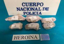 Imagen de la heroína incautada por Policía.