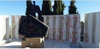 Actos vandálicos en el cementerio de Jaén.