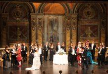 Imagen de la obra teatral La Traviata.