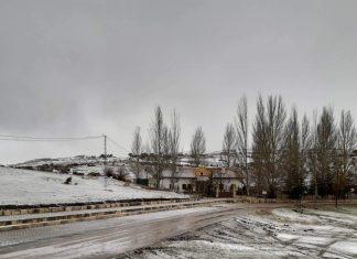 Imagen de la nieva en Santiago-Pontones. FOTO: Mari Casti Castillo
