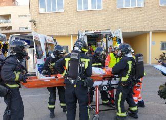 Simulacro incendio en el hospital de Jaén.