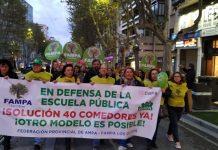 Manifestación de FAMPA Los Olivos hace unas semanas.