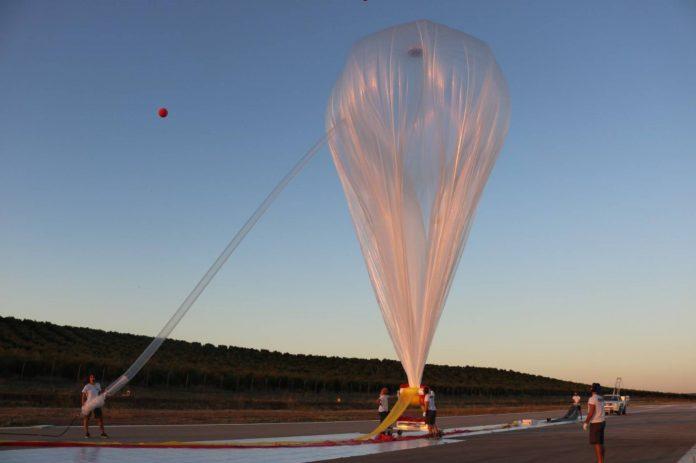 Uno de los globos en prueba de la empresa Zero 2 Infinity en Villacarrillo