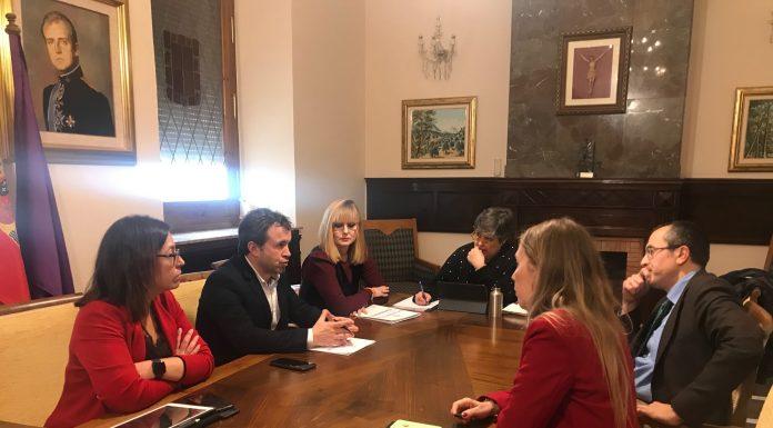 Reunión de los grupos políticos en el ayuntamiento de Jaén.