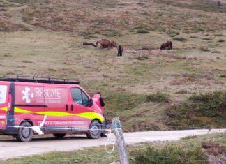 Vehículo y técnico de IFP Rescate participa en la búsqueda de un hombre desaparecido en Cantabria.