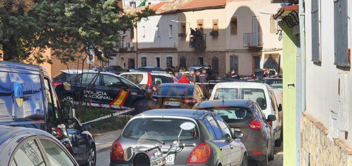 Zona acordaba por la Policía Nacional. FOTO: HoraJaén
