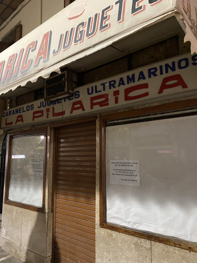 Cierre de La Pilarica por jubilación.