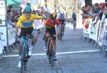 Fulsang entrando en linea de meta. FOTO: Vuelta Ciclista a Andalucía