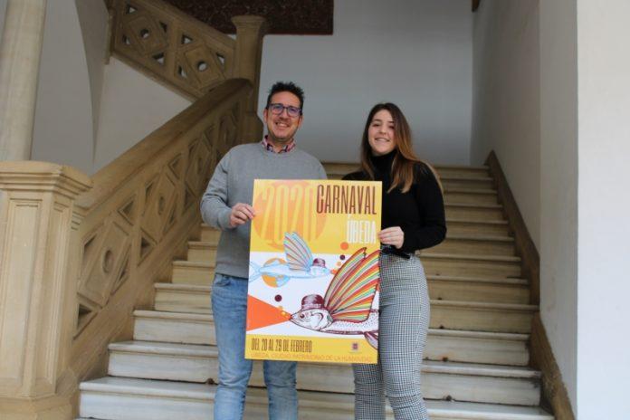Presentación del cartel anunciando de los carnavales de Úbeda.