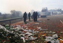 Enfrentamiento entre Guardia Civil y agricultores en la A-4. FOTO: HoraJaén
