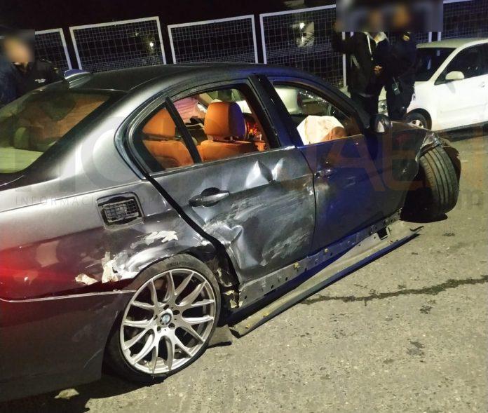 Así quedó el vehículo tras la colisión en la calle Ronda Juez Juan Ruiz Rico.