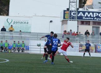 Imagen del partido entre el Quesada y el Inter de Jaén