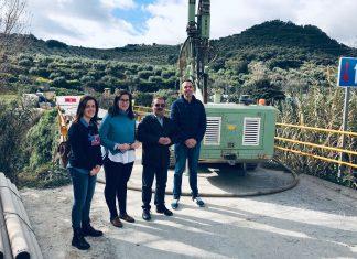 Visita de las obras de la carretera JA-3302 Fuensanta Martos y Castillo Locubin.