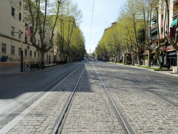 Calles de Jaén, vacías.
