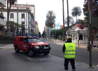 Unidad Militar de Emergencias en la calles. FOTO: UME