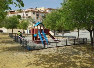 Parque cerrado por coronavirus.