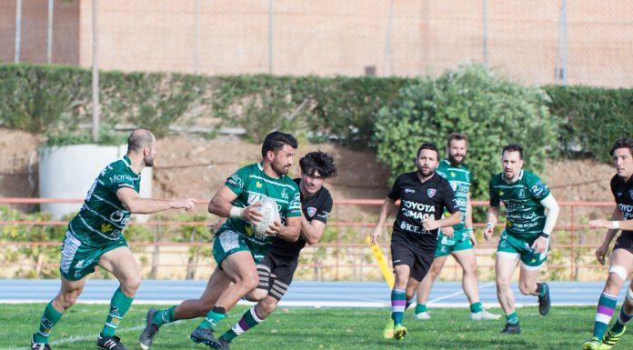 Imagen del partido entre el Jaén Rugby y el Málaga.