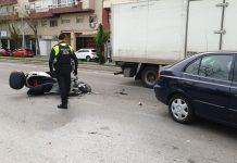 Estado de la moto tras el accidente. FOTO: HoraJaén