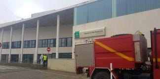 Militares de la UME en el hospital de Alcalá la Real.