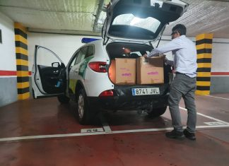 La Junta entrega 4.400 mascarillas en Jaén.