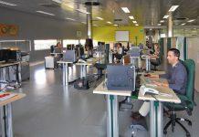 Sala del 061 en Jaén.
