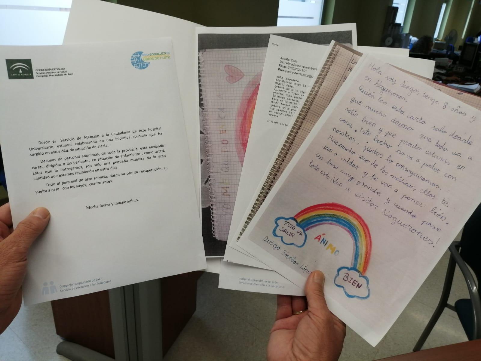 El Hospital Universitario de Jaén entrega cartas solidarias a ...
