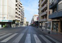 Avenida de Madrid sin circulación. FOTO: HoraJaén