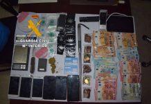Material incautado por la Guardia Civil en Villanueva del Arzobispo.