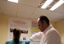 Vacunación contra la gripe.