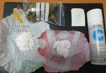 Cocaína localizada en el interior de un vehículo en Beas de Segura.