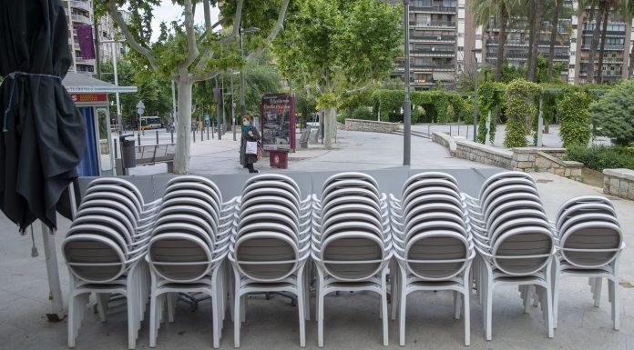 Algunas terrazas aún no han abierto al público en esta Fase 1. FOTO: Peragón