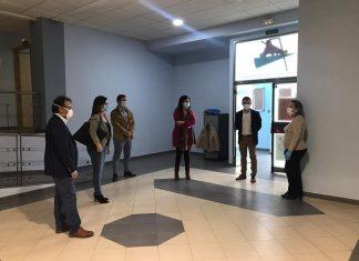 Visita a la nueva oficina de Policía Local en Peñamefécit.