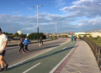 Ronda de los Marroquíes, como uno de los itinerarios peatonales por Covid-19.