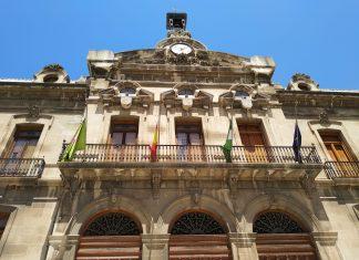 Fachada del Palacio Provincial sede de la Diputación de Jaén.